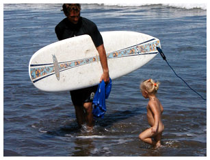 Surf camp toddler