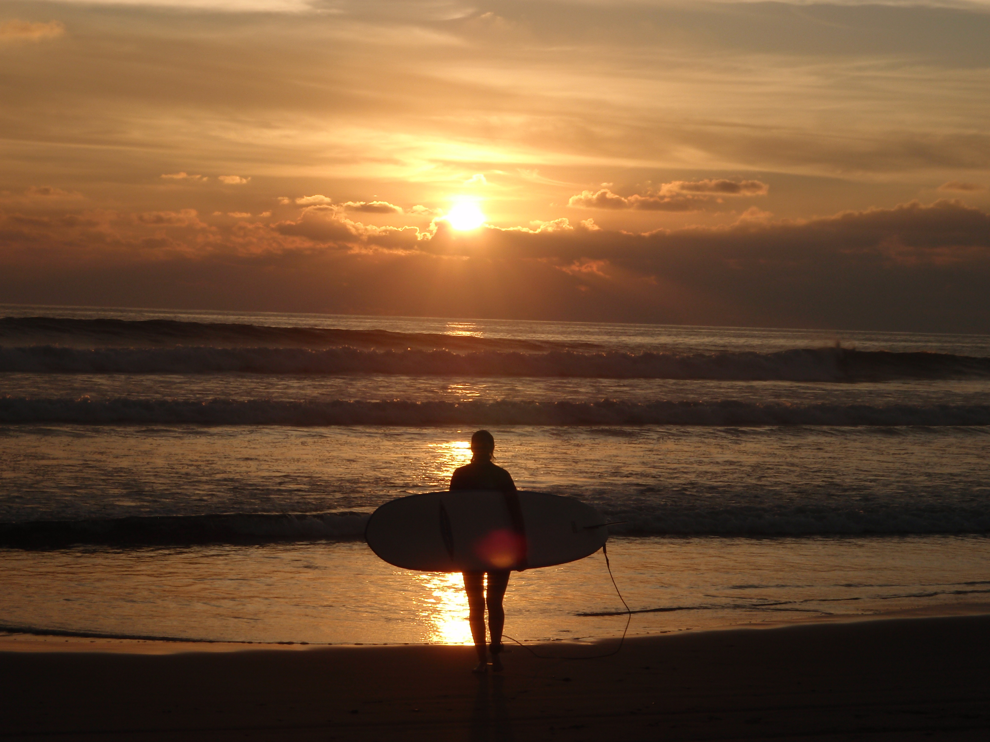 Troncones sunset surf lesson